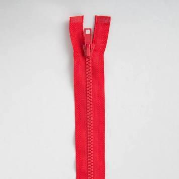 Fermeture injectée rouge 40 cm séparable col 820