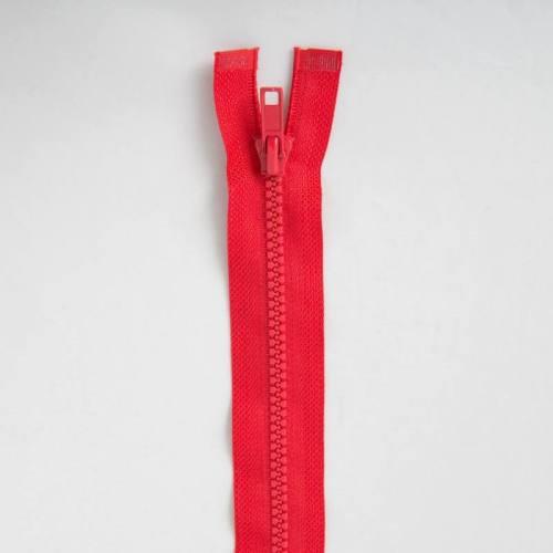 Fermeture injectée rouge 55 cm séparable col 820