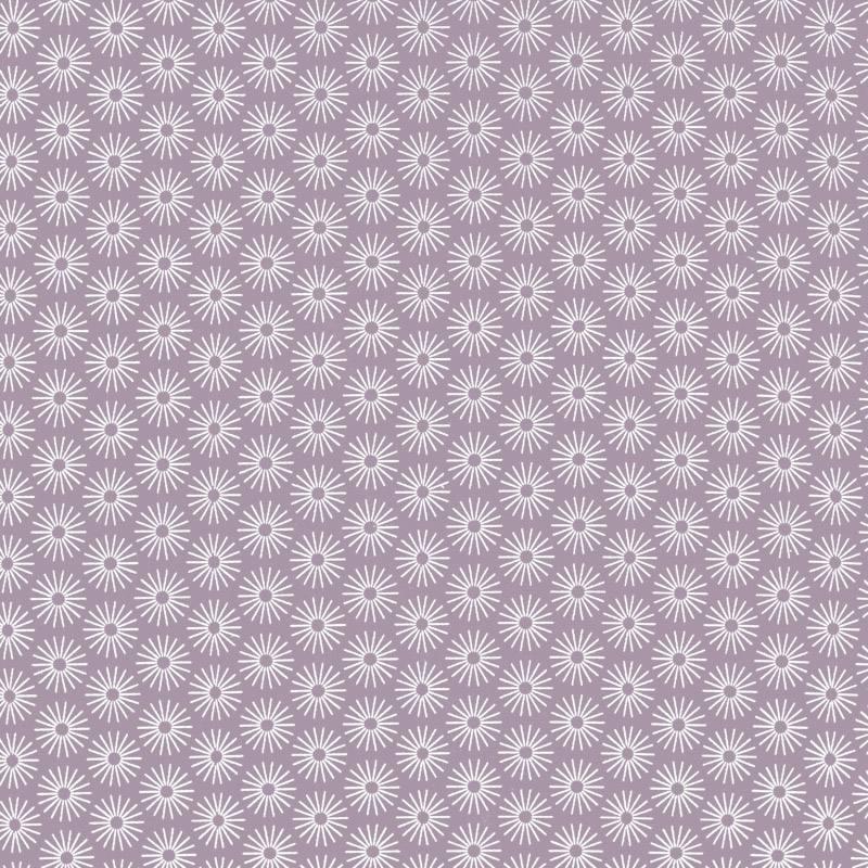 Jersey rose glycine motif umbrella blanc