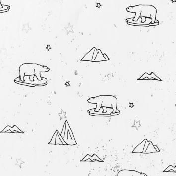 Jersey écru motif ours polaire