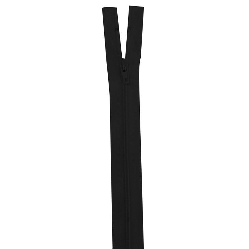 Fermeture en nylon noire 25 cm séparable col 580