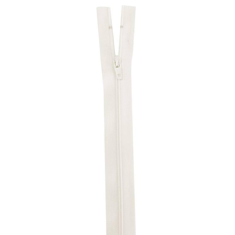 Fermeture en nylon écrue 35 cm séparable col 801