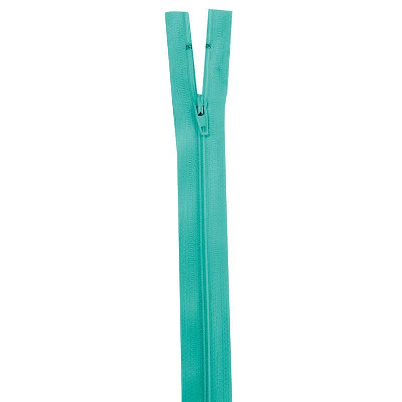 Fermeture bleu tiffany 40 cm non séparable col 825