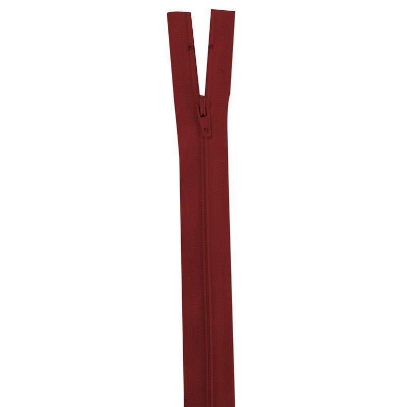 Fermeture rouge lie de vin 40 cm non séparable col 059
