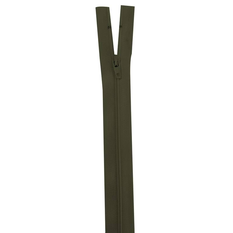 Fermeture vert militaire 20 cm non séparable col 305