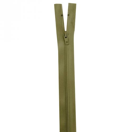 Fermeture vert militaire 50 cm non séparable col 999