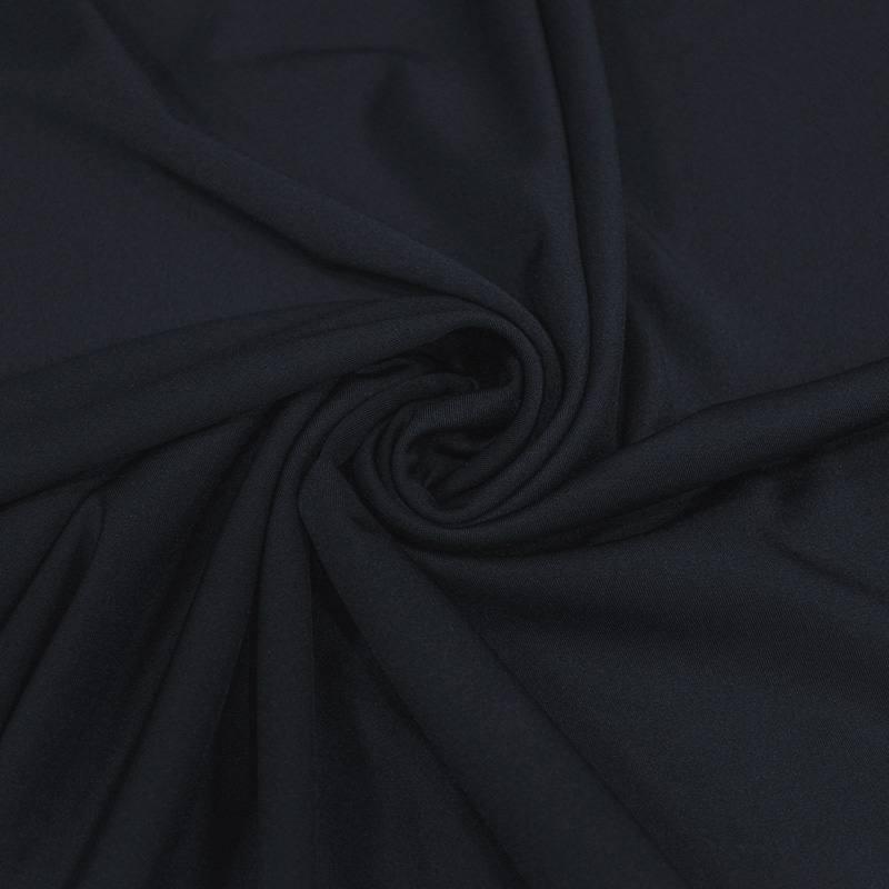 Tissu maille effet lycra bleu marine