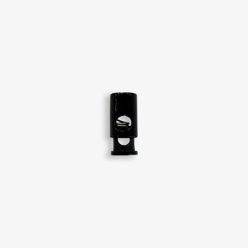 Stop cordon cylindre noir