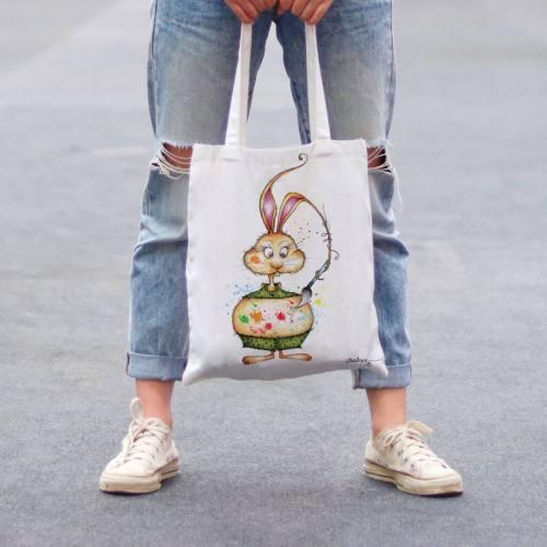 Coupon toile canvas lapin peinture - Audrey Baudo