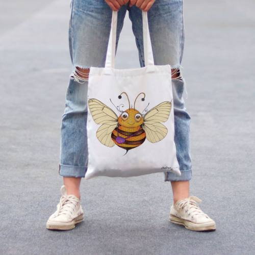 Coupon toile canvas abeille - Audrey Baudo