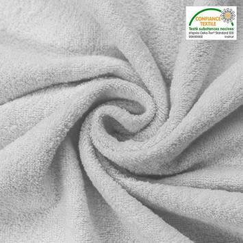 Tissu éponge gris