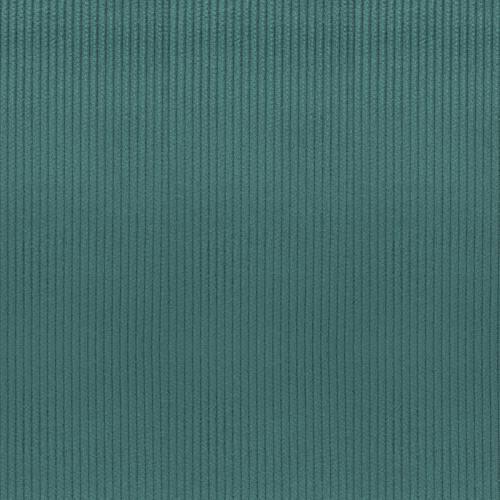 Velours côtelé d'ameublement bleu canard