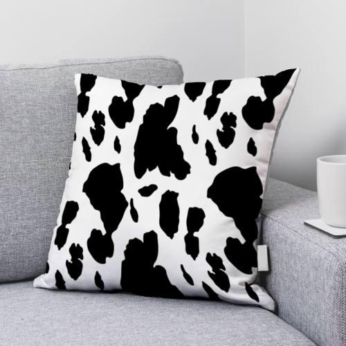 Velours ras imprimé vache