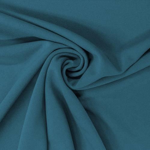 Tissu scuba crêpe bleu pétrole