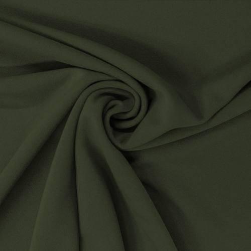 Tissu scuba crêpe uni vert anglais