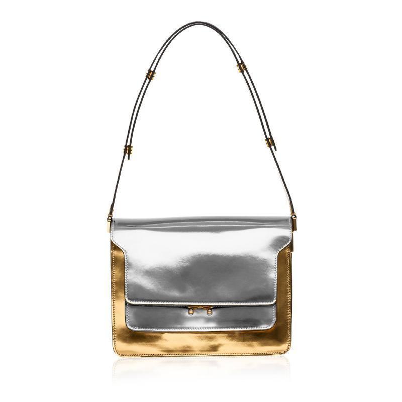 Coupon 65x50 cm - Simili cuir miroir argent