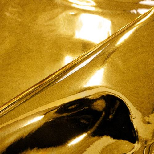 Coupon 65x50 cm - Simili cuir miroir or