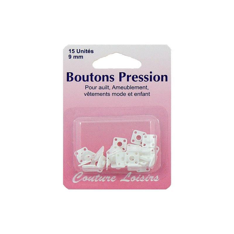Boutons pression nylon blanc X15
