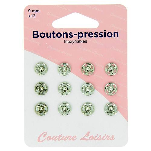 Boutons pression N°9 nickelés X12