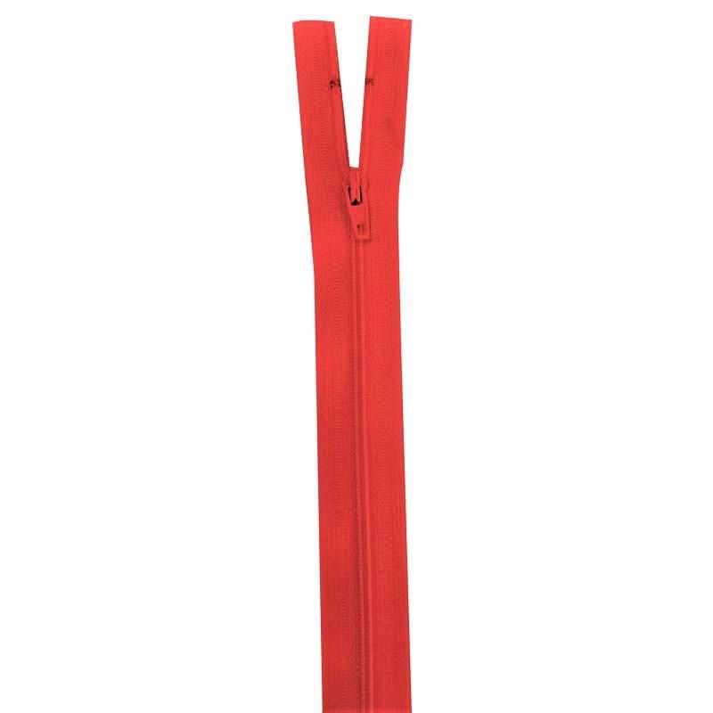 Fermeture rouge groseille 20 cm non séparable col 820