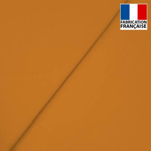 Popeline de coton mercerisé marron fauve