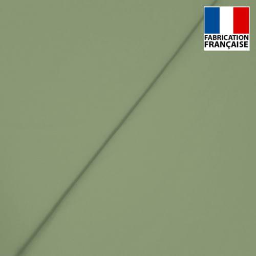Popeline de coton mercerisé vert sauge