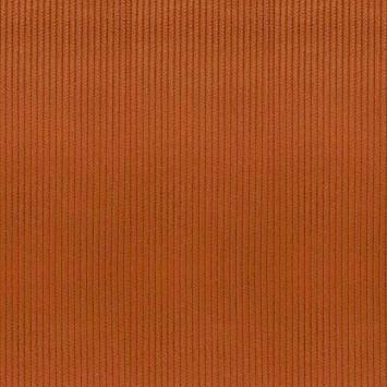 Velours côtelé d'ameublement orange brûlée