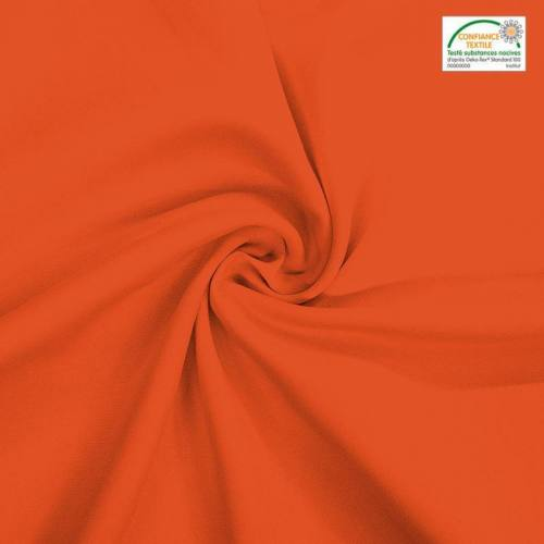 Rouleau 36m burlington infroissable Oeko-tex orange sanguine