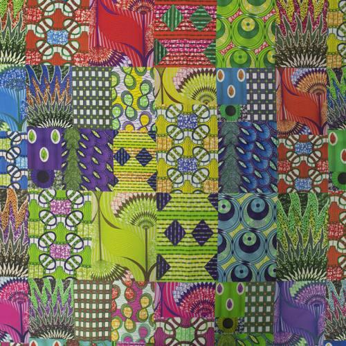 Tissu occultant motif wax mutlicolor