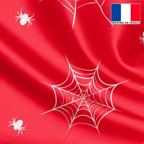 Satin rouge imprimé super-héros araignée