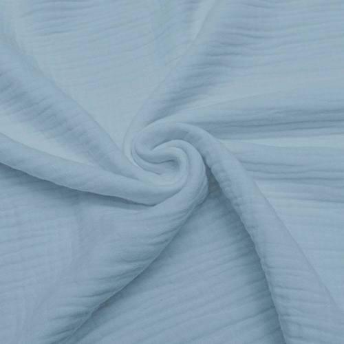 Triple gaze de coton bleu gris