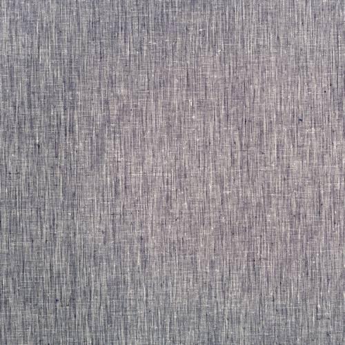 Tissu coton lin chiné bleu