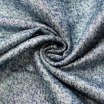 Tissu chanell bleu et lurex argenté