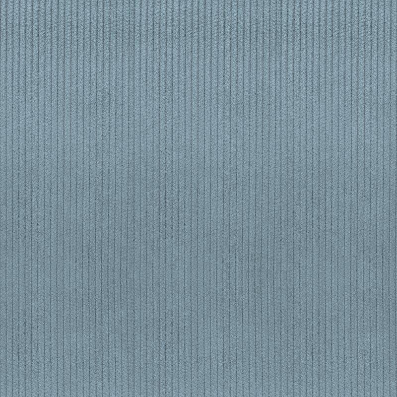 Velours côtelé d'ameublement bleu jean