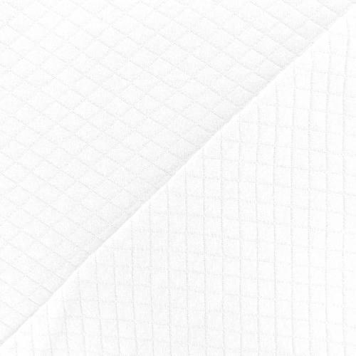 Jersey de coton matelassé blanc