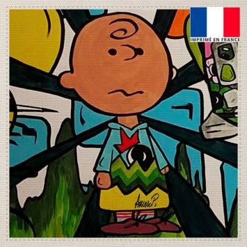 Coupon toile canvas scout street pop - Création Anne-Sophie Dozoul