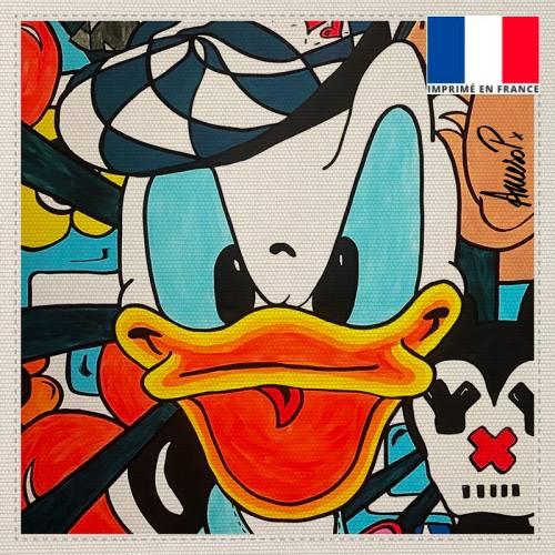 Coupon toile canvas duck - Création Anne-Sophie Dozoul