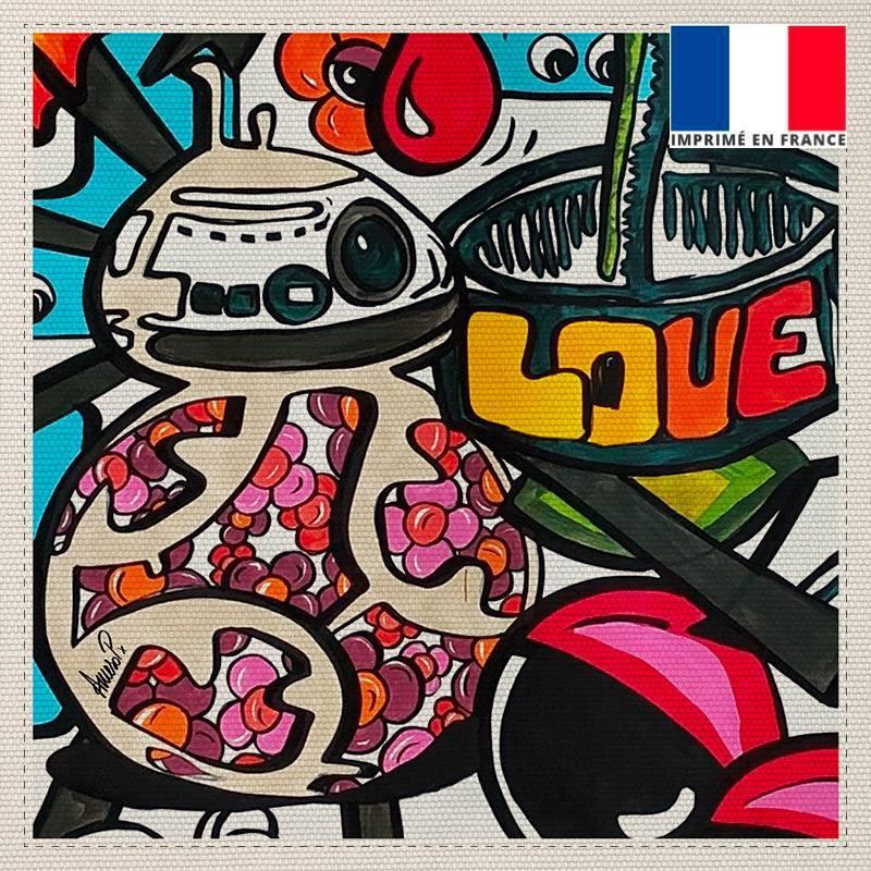 Coupon toile canvas love - Création Anne-Sophie Dozoul