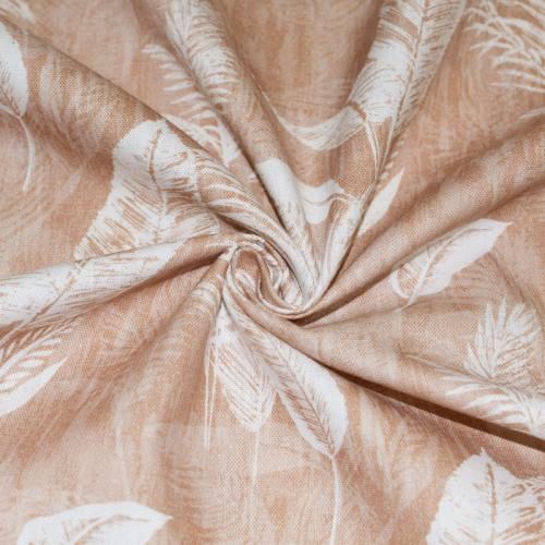 Toile coton sable imprimée palmier