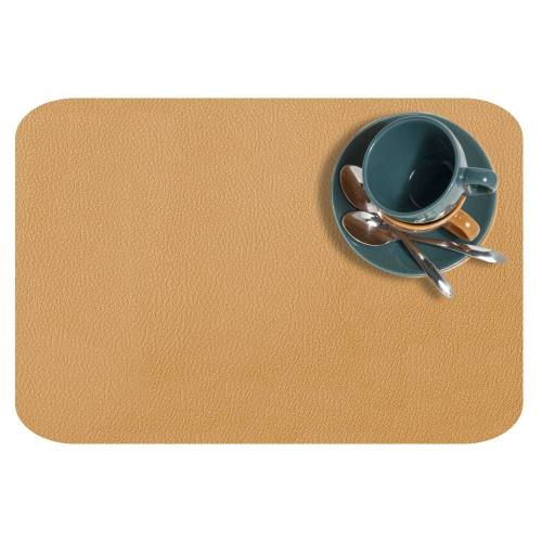 Coupon 50x68cm - Simili cuir dolaro miel nacré