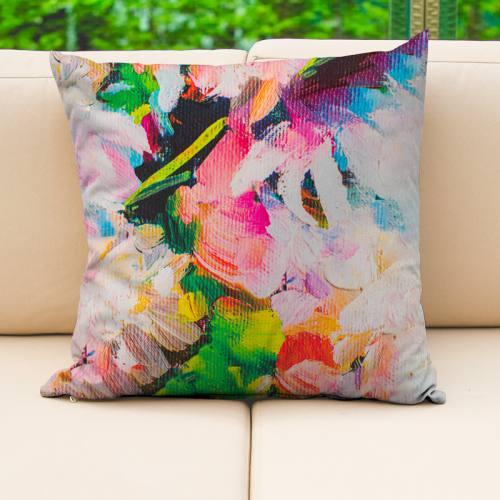 Toile extérieure Téflon multicolore effet peinture