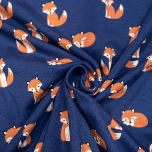 Jersey bleu marine motif renard