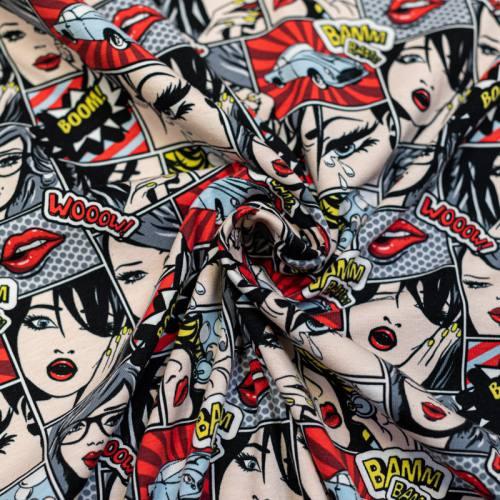 Jersey rouge imprimé comics bamm