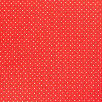 Coton rouge à petit pois blancs 1mm