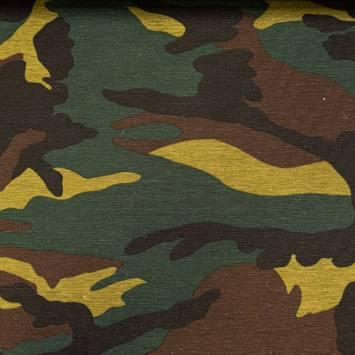 Toile polycoton grande largeur imprimée camouflage