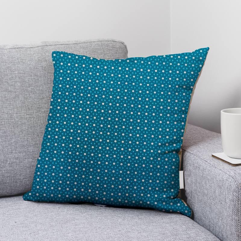 Coton bleu paon motif ceramik