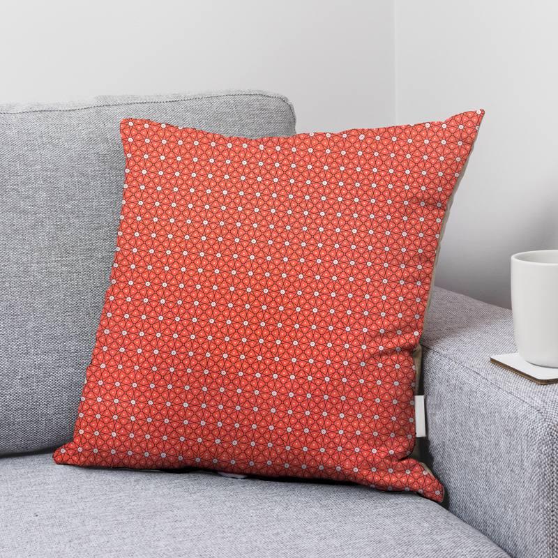 Coton corail motif ceramik