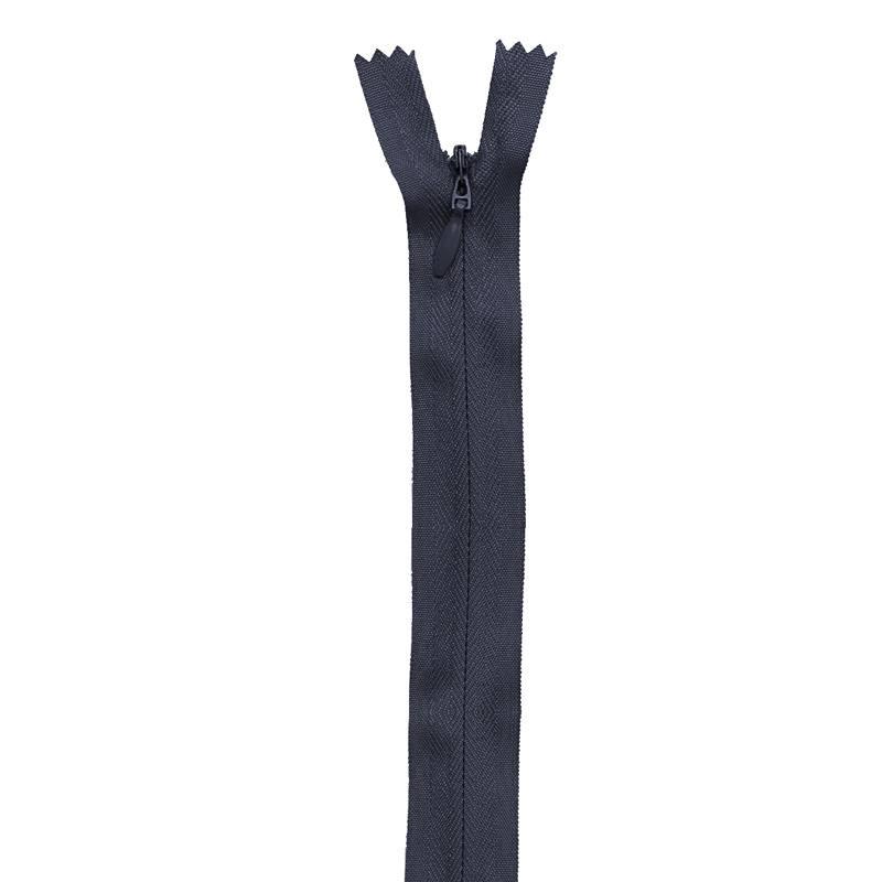 Fermeture bleu marine à glissière invisible 60 cm col 233