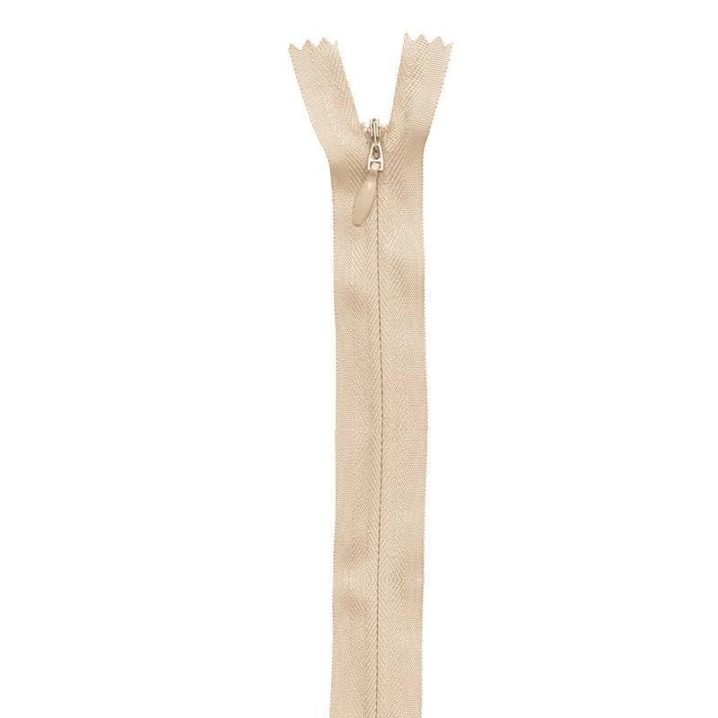 Fermeture crème à glissière invisible 60 cm col 371