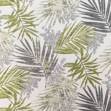 Coupon 50x68 - Jacquard jungle excelsa vert et gris